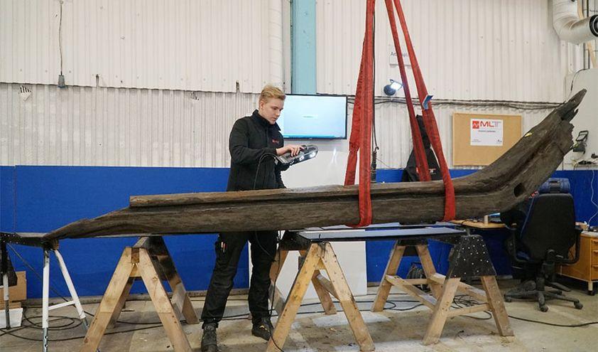 3Д реконструкция лодки 19 века