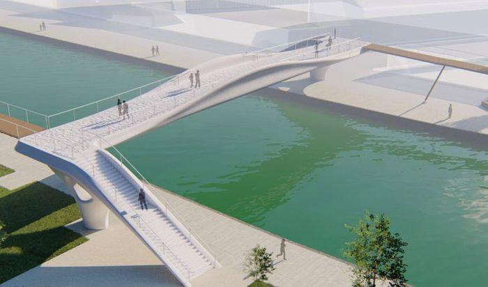 Новый 3Д мост в Париже
