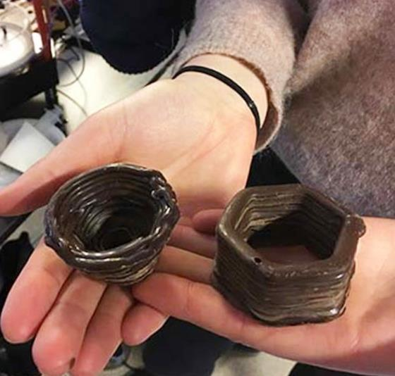 Шоколадный 3Д принтер с быстрым охлаждением шоколада