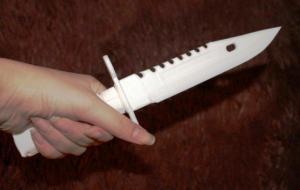 Макет подарочного ножа из PLA пластика.