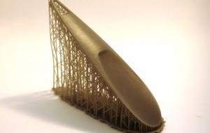 Прототип обувной ложки с логотипом из фотополимера