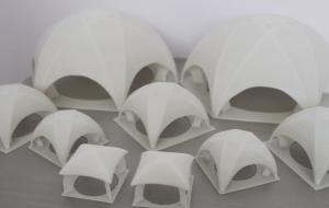 Модели тентовых палаток для демонстрации заказчику.