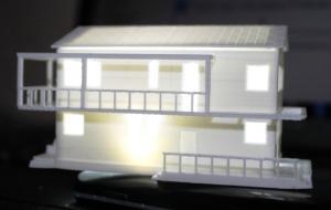 Дом на 3Д принтере из ПЛА пластика размером 7см.