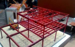 Макет здания для строительной выставки. Все детали напечатаны, покрашены и склеены.