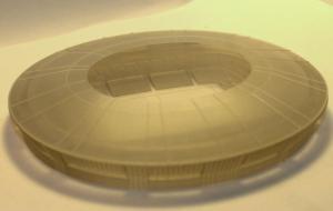 Детализировнанная копия стадиона больший диеметр 130 мм. Технология POLIJET.