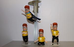 Фигурки персонажей для компании Intel, изготовлены единичном экземпляре.