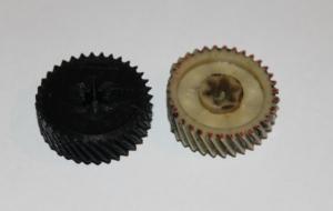 3D-печать шестеренки из пластика в единичном экземпляре.