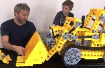 Гигантский 3Д бульдозер LEGO