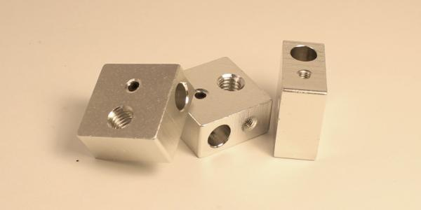 Алюминиевый нагревательный блок MK7 MK8 20мм/20мм/10мм